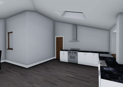 home extension 3d interior design in manchester interior view