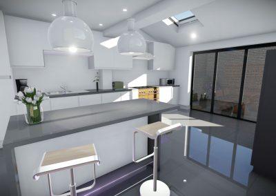3d interior design in manchester kitchen