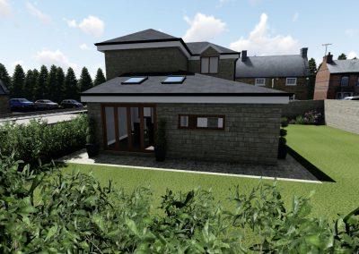 Detached Property – Side & Rear Single Storey Extension