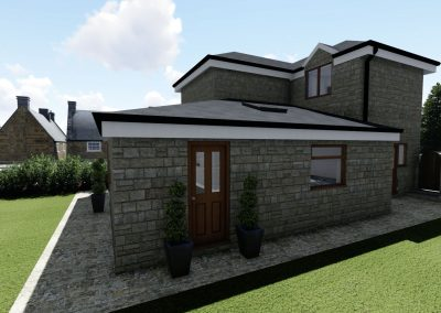 home extension 3d interior design in manchester exterior view