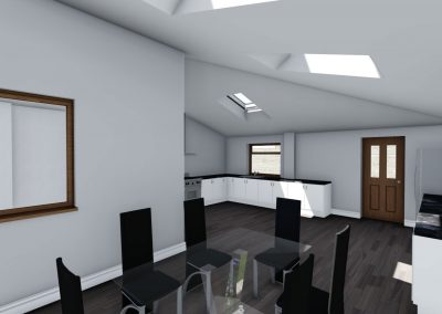 home extension 3d interior design in stockport interior view