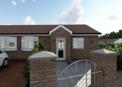home extension 3d interior design in cheshire exterior view